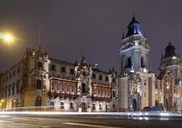 Cathédrale de Lima, en plein centre de la capital du Pérou
